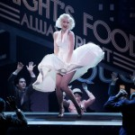 """Katherine McPhee as Marilyn Monroe in """"Bombshell."""" Courtesy of New York Times graphics"""