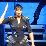 """Janet Jackson performing during her tour, """"Number Ones, Up Close and Personal."""" Courtesy of Wikipedia Commons"""