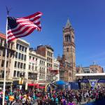 The Boston Marathon finish line the day before the race.  Priscilla Liguori/ WEBN-TV
