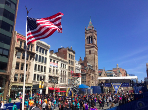 The Boston Marathon finish line the day before the race. Priscilla Liguori/ WEBN-TV